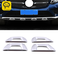 CarManGo for Mercedes Benz GLC GLC Coupe 2015 2019 Car Bumper Decoration Chrome Cover Frame Trim Sticker Exterior Accessory