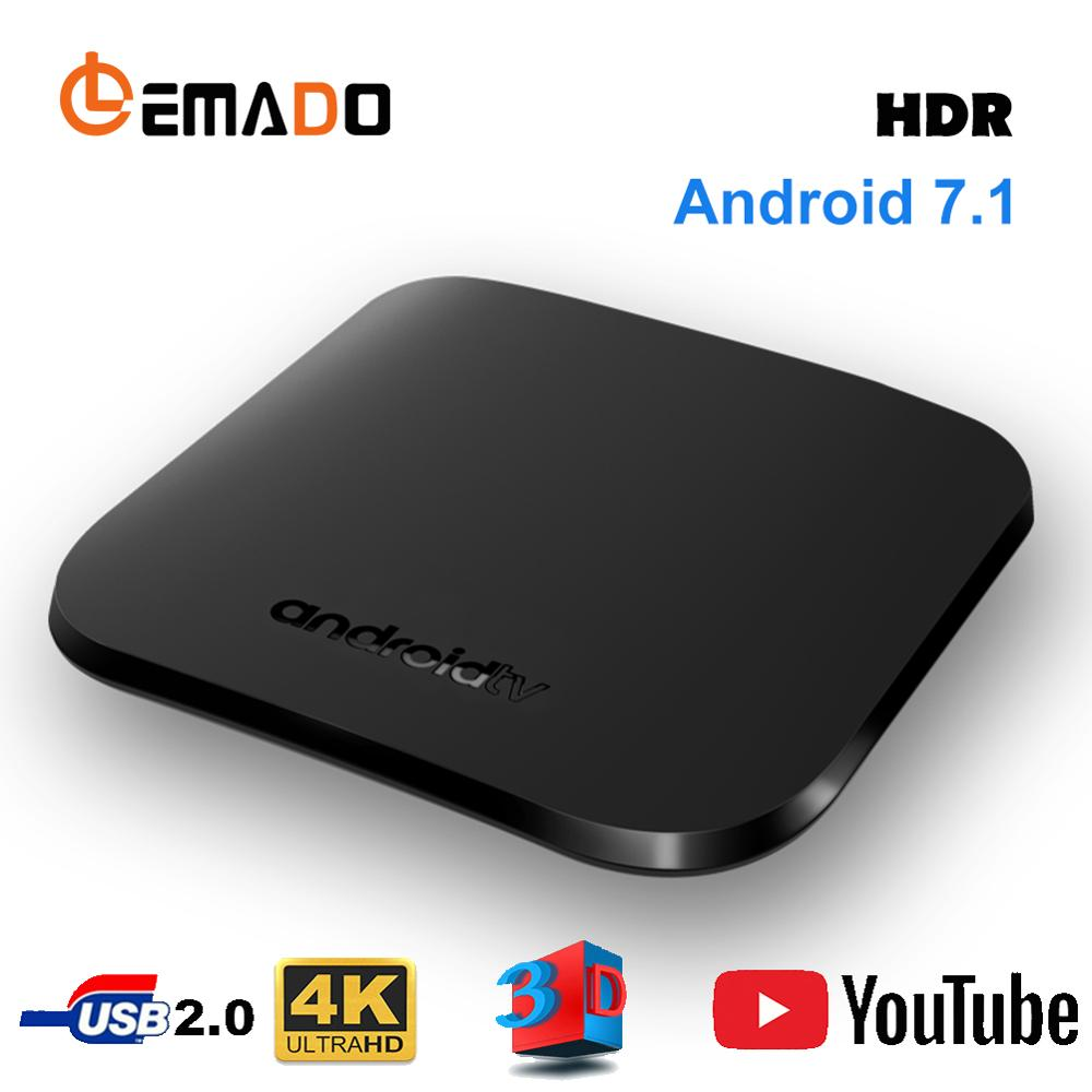 LEMADO M8S Plus K1 Plus Smart TV Box Android 7.1 Amlogic SoC 1GB 8GB H.265 4K 2.4G WIFI Android TV Box Set Top Box