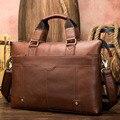 Herren Einfache Mode Tasche Aus Echtem Leder aktentasche Männlichen tasche natürliche Leder für männer Messenger bags herren aktentaschen