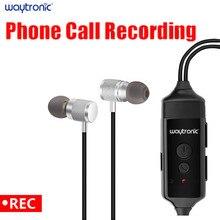 O fone de ouvido da gravação do bluetooth do gravador de chamadas do telefone móvel pode ser usado para a gravação da chamada do skype, do facebook e do outro software social
