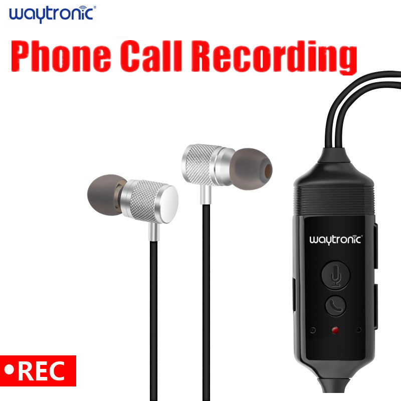 Wireless Bluetooth Call Recorder Earphone for iPhone Android Mobile Phone Conversation Incoming Outgoing Calls Recording-in Phone Earphones & Headphones from Consumer Electronics