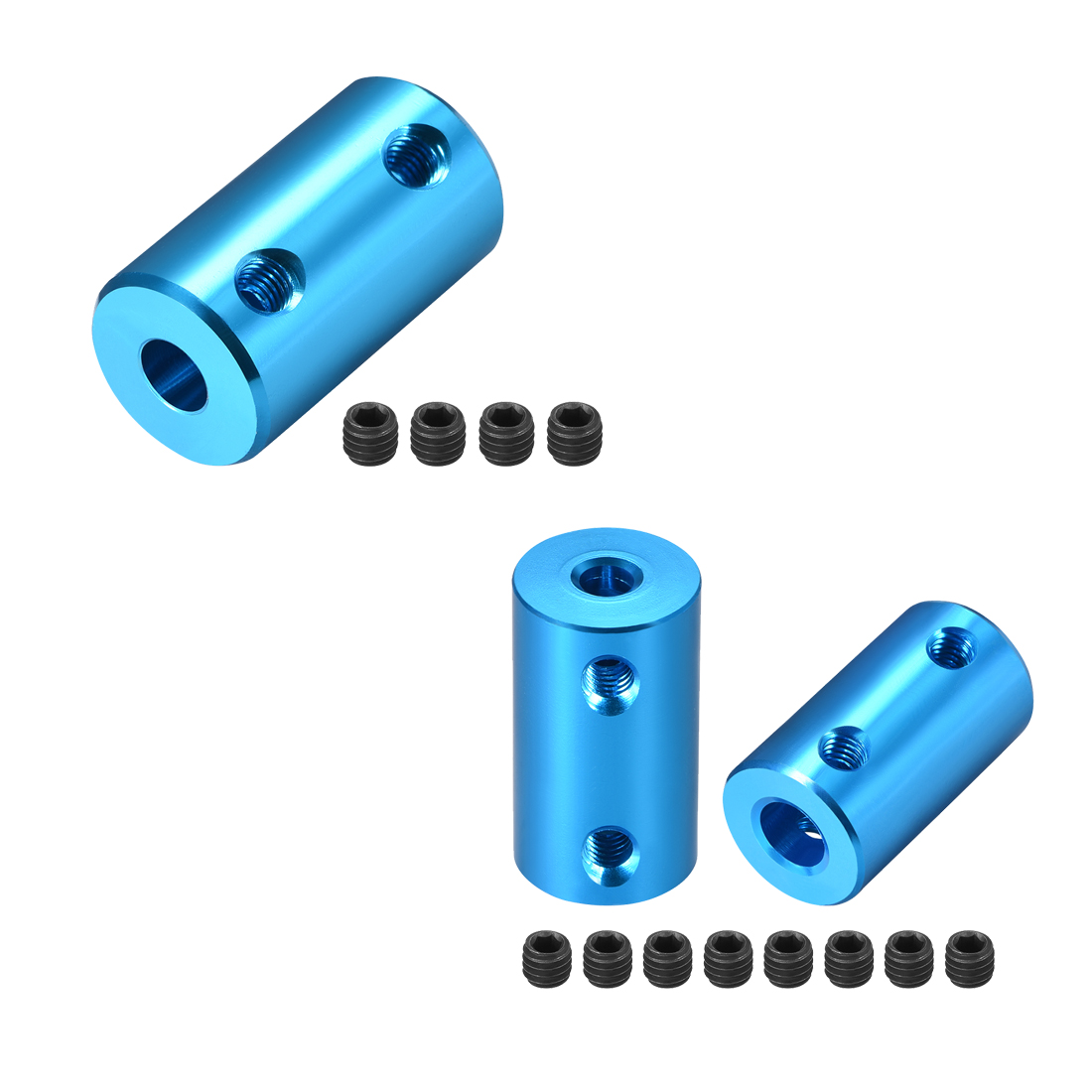 sourcingmap/® 5 Pcs 3.5mm 1//8 2 Poles Male Mono Plug 90 Degree Audio Connector Adapter Black