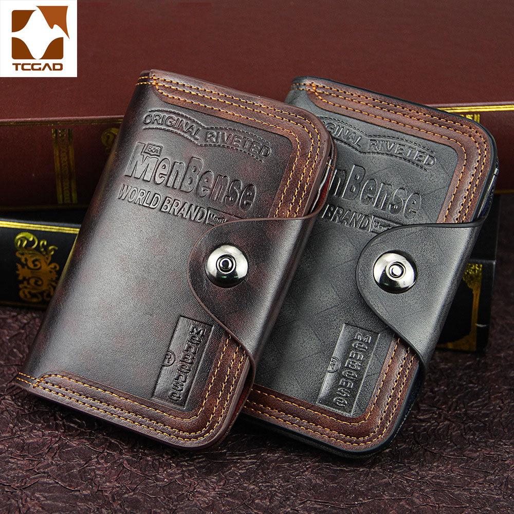 Men's Wallet Magnetic Snap Clutch Bag Male Wallet Leather Genuine Compartment Portfel Carteira Purse Men Famous Brand Luxu 2019