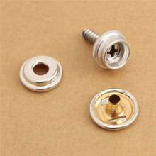 30pcs Snap Fastener Stainless Steel Canvas Cap Tent Boat Marine Silver Tools Kit Snap Fastener sockets buttons snap fasteners