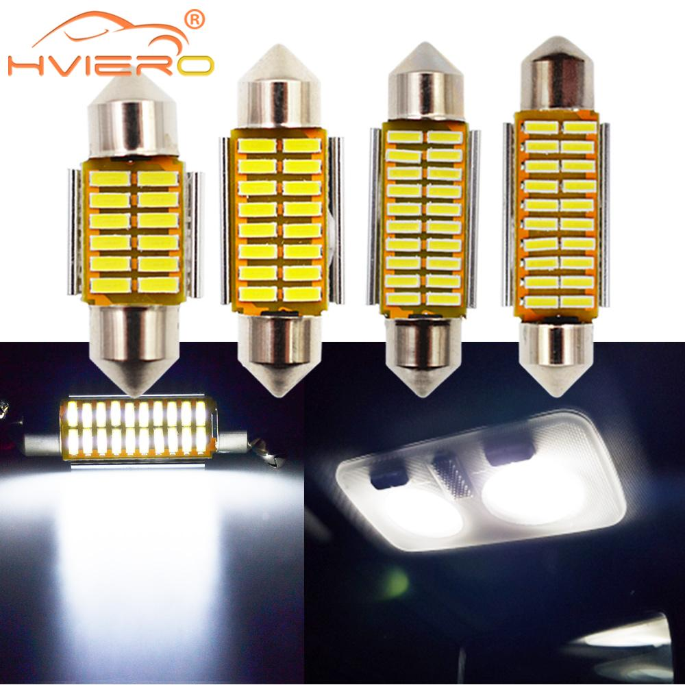 Car Led White Festoon Dome 31mm 36mm 39mm 41mm Auto LED Bulb C5W C10W Bright 4014 SMD Canbus Error Free Auto Interior Doom Lamp