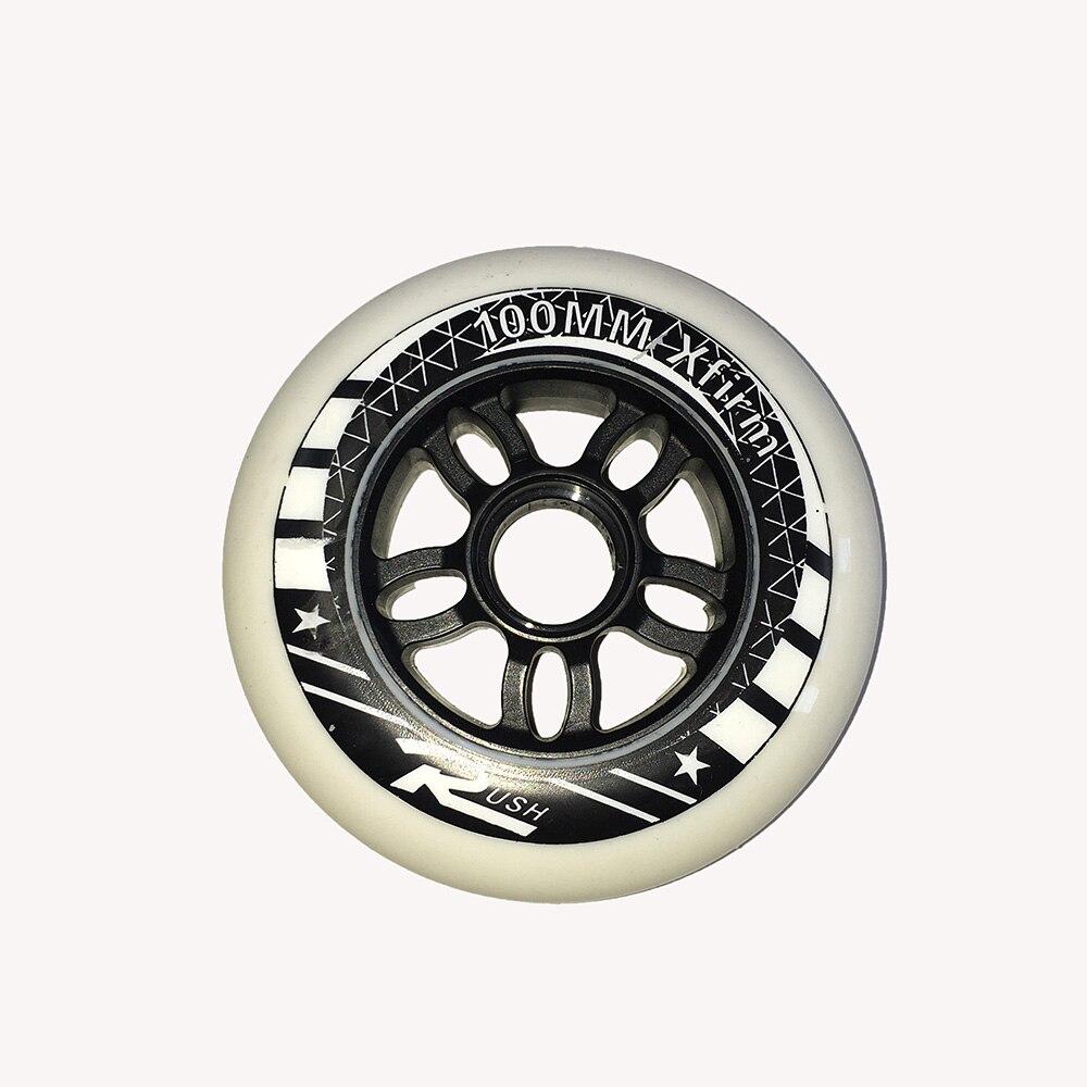 One Piece Inline Speed Roller Wheels Sliding Skate Wheels PP 90mm 100mm 110mm Slalom Racing Speed Wheels Skating