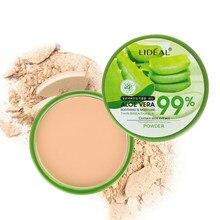 99% Aloë Vera Pressed Powder Moisturizer Make Foundation Gezicht Compact Powder Matte Concealer Whitening Fleuren Cosmetica