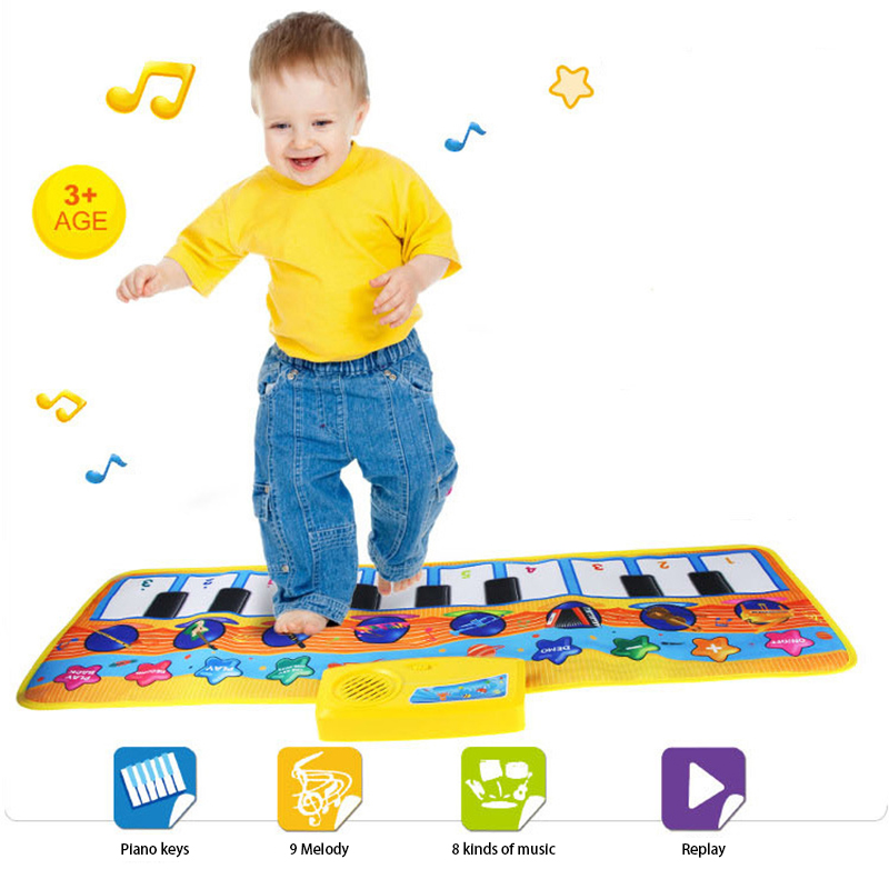 Baby Musical Toy Folding Baby Music Blanket Children Game Carpet Mat 80X28cm Piano Mats Educational Baby Toys