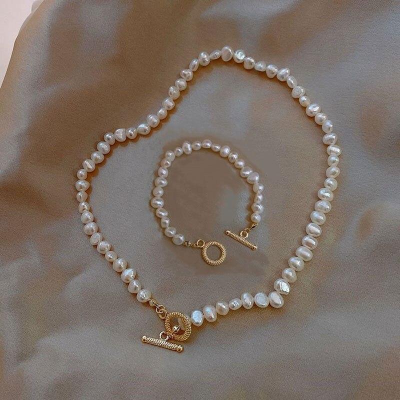 KMVEXO-collier ras du cou avec des perles deau douce pour femmes, bijoux à la mode, style Baroque, hiver 2020