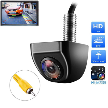 Car Rear View Camera Reverse Universal HD Color Image Video Night Vision 170 Degree Wide Angle Waterproof Backup For Car Camera 1