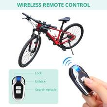 Bike-Lock Anti-Theft Password 4-Digit Remote-Control LED Indication IP55 Security Waterproof