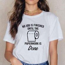 Nueva camiseta de papel higiénico para mujer, camiseta estampada, camiseta de Primavera Verano, camiseta Vintage de vanguardia, ropa de mujer, camisetas de cuello redondo