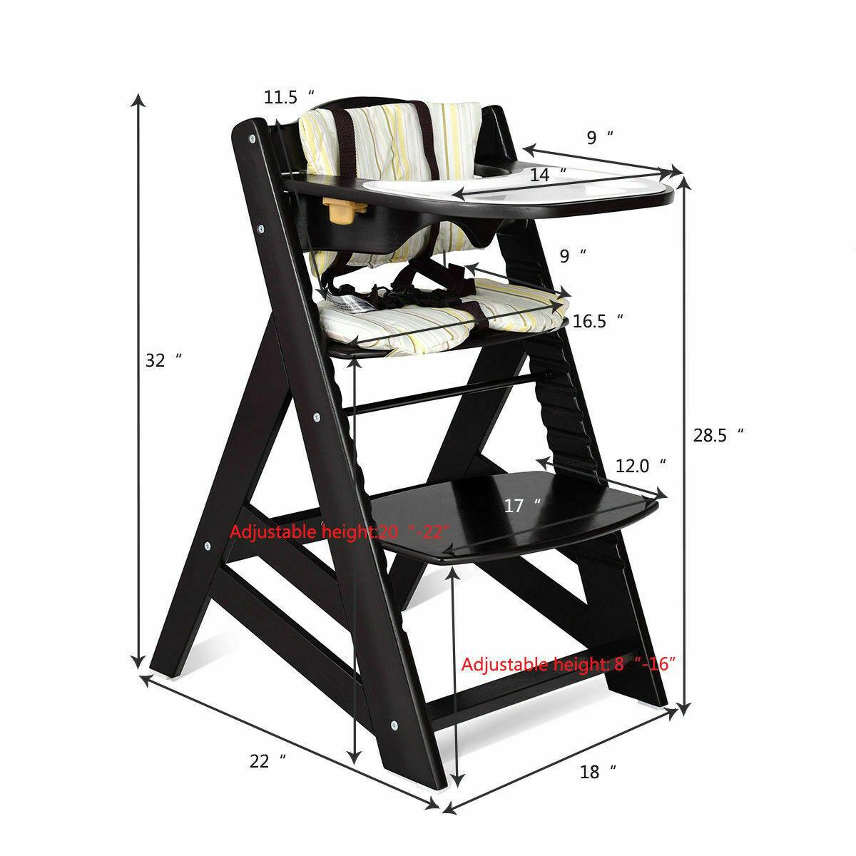 wooden convertible high chair