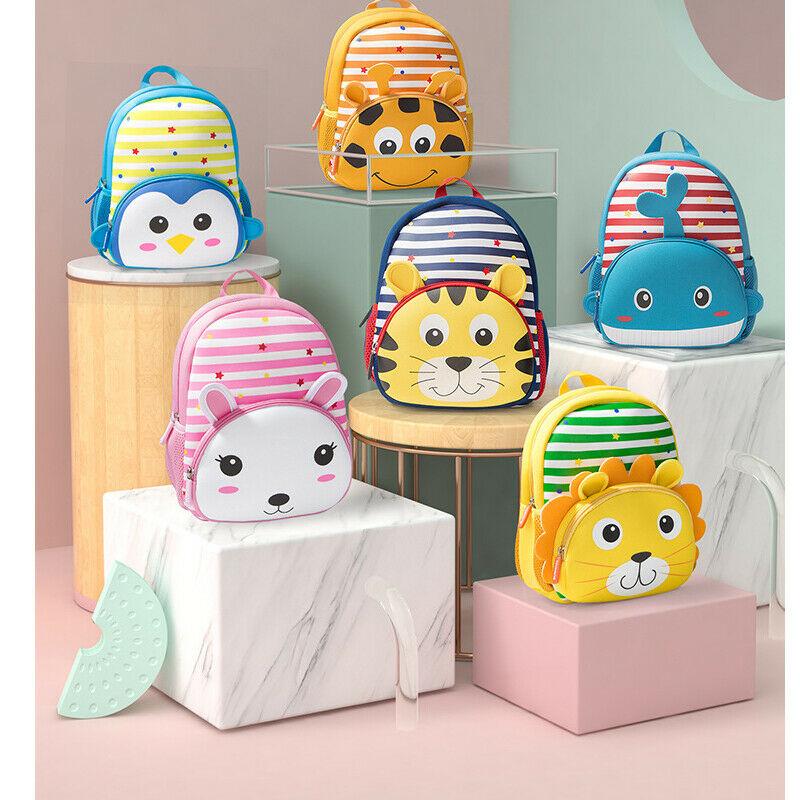 2019 Newest Hot Kids Toddler Baby Boys Girls Cute Backpack Kindergarten Schoolbag Baby Cartoon Animal Bag Shoulder Bag Rucksack
