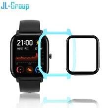 Amazfit GTS حامي الحال مع فيلم ل Huami amazfit GTS ساعة حماية زجاج اكسسوارات الوفير غطاء شاشة