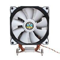 Lanshuo cpu silencioso único ventilador 4 tubo de calor 3 fio cpu cooler ventilador para intel lga 2011 auto-contido backplane placa-mãe