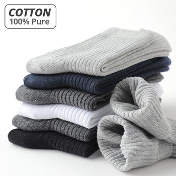 HSS marka 2020 nowy 100 czyste męskie skarpetki bawełniane Casual Business Stripe dezodorant oddychająca mężczyzna podróży zimowe skarpety 5 par partia tanie i dobre opinie STANDARD Sukienka COTTON P-1170 Załoga Black White Grey Dark Grey Navy Blue Cotton Sock Man Socks Men Socks 100 Pure Cotton