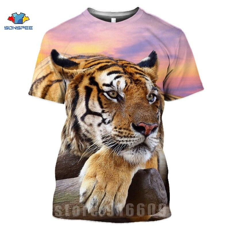 Animal Tiger Face Shirts 3D Print Horror Lion T shirt Streetwear Kid Men Women Fashion T-shirt Harajuku Shirts Homme King Tshirt (12)