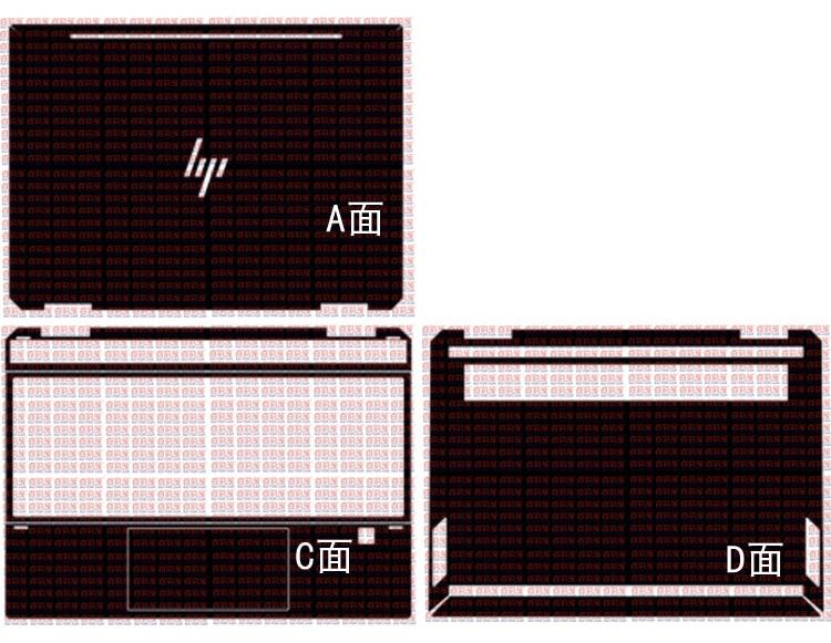 Laptop Carbon Fiber Vinyl Skin Sticker Cover For 2019 HP Spectre X360 13-AP0023DX AP0013DX Ap0008ca Ap0038nr Ap0312ng 13.3