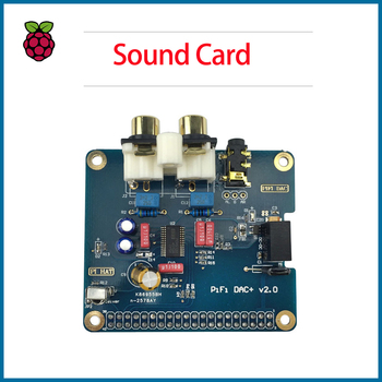S  ROBOT Raspberry Pi 4 Model B PiFi DAC+ V2.0 Sound Card Acrylic Case Audio Board Box Shell  RPI167 decoder board pcm5102 gy pcm5102 i2s interface speaker audio sound card amplifier module dac player for raspberry pi