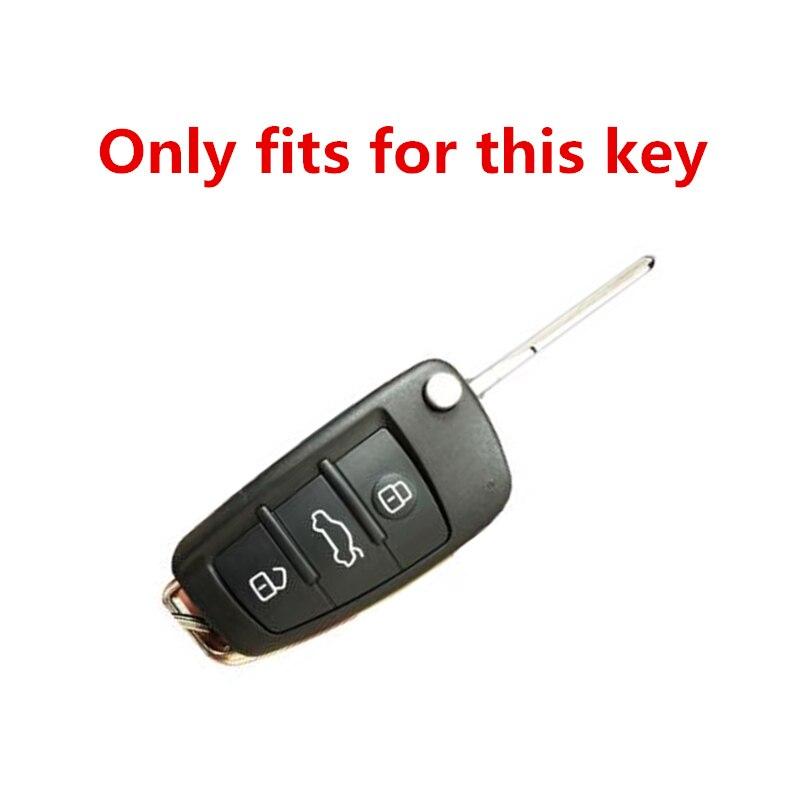 Роскошный чехол для автомобильного ключа из ТПУ и кожи audi