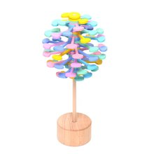 Wooden Obsessive-Compulsive Adult Decompression Stick Artifact Office Decoration Creative Toys Rotating Lollipop