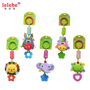 Lelebe Baby Rattles Toys Children Cradle Animal-Shape Soft For Kids with Baby-Products