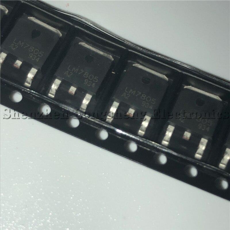 10 PÇS/LOTE LM7805 7805 TO-252 Três-terminal regulador 5V regulador