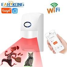 Tuya-detectores de infrarrojos inteligentes con WiFi, Alarma de Sensor de movimiento Compatible con la aplicación Smart Life de Tuyasmart