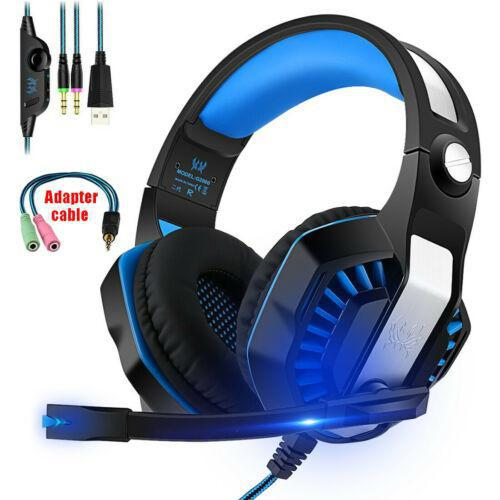 Gaming Headset <font><b>G2000</b></font>+ MIC LED Stereo Headphones For PC Laptop (with adapter) image