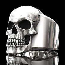 Мужское кольцо креативное в стиле хип хоп с черепом европейском