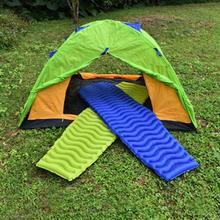 Inflatable Air Mattress Tent Cushion Outdoor Camping Mat Pad Ultralight Moisture-proof Sleeping Bed Portable Picnic Beach Mat цена