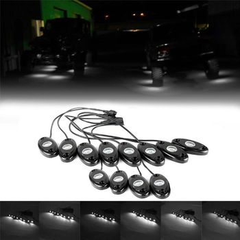12pcs 9W LED Rock Light for Offroad Truck Boat Underbody Lamp