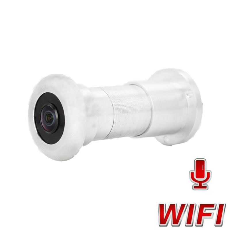 1080P WiFi IP Peephole Camera HD 2MP Home Security Door Eye Motion Detection Mini Video Camera Build-In IR LED 940nm Mic Audio