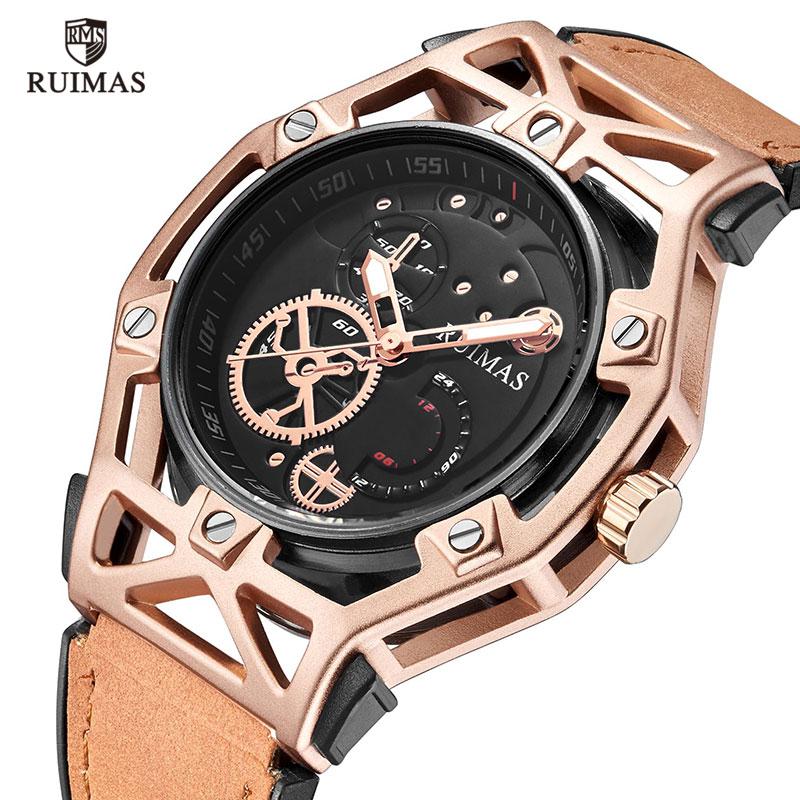 Man Watch 2018 Quartz Luxury Men Sport Watches Men'S Quartz Clock Luminous Military Leather Male Wrist Watch Relogio Masculino