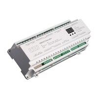 DMX512 Decoder DC12V 24V 3Ax40CH Max 120A 2880W Output RGB/RGBW Strip RJ45 Connect LED Sn 40 Channel DMX Decoder