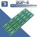 10 шт. SOP8 поворота DIP8 / SMD для DIP IC гнездо адаптера SOP8/TSSOP8/SOIC8/SSOP8 доска для DIP адаптер конвертер пластина 0,65 мм 1,27 мм