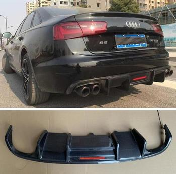 REAL CARBON FIBER REAR BUMPER TRUNK LIP SPOILER DIFFUSER For Audi A6 S6 SLINE C7 2012 2013 2014 2015