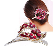 Wholesale Korean Version Hollow Out Heart Hair Accessories Ornaments With Crystal Hairpin Fashion Clip Barrette Hairwear