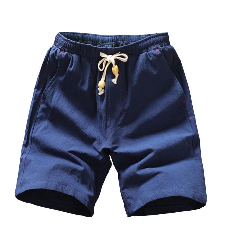 2019 Summer New Cotton Shorts Loose Men's Casual Shorts Black White Drawstring Waist  Plus Size 4XL 5XL