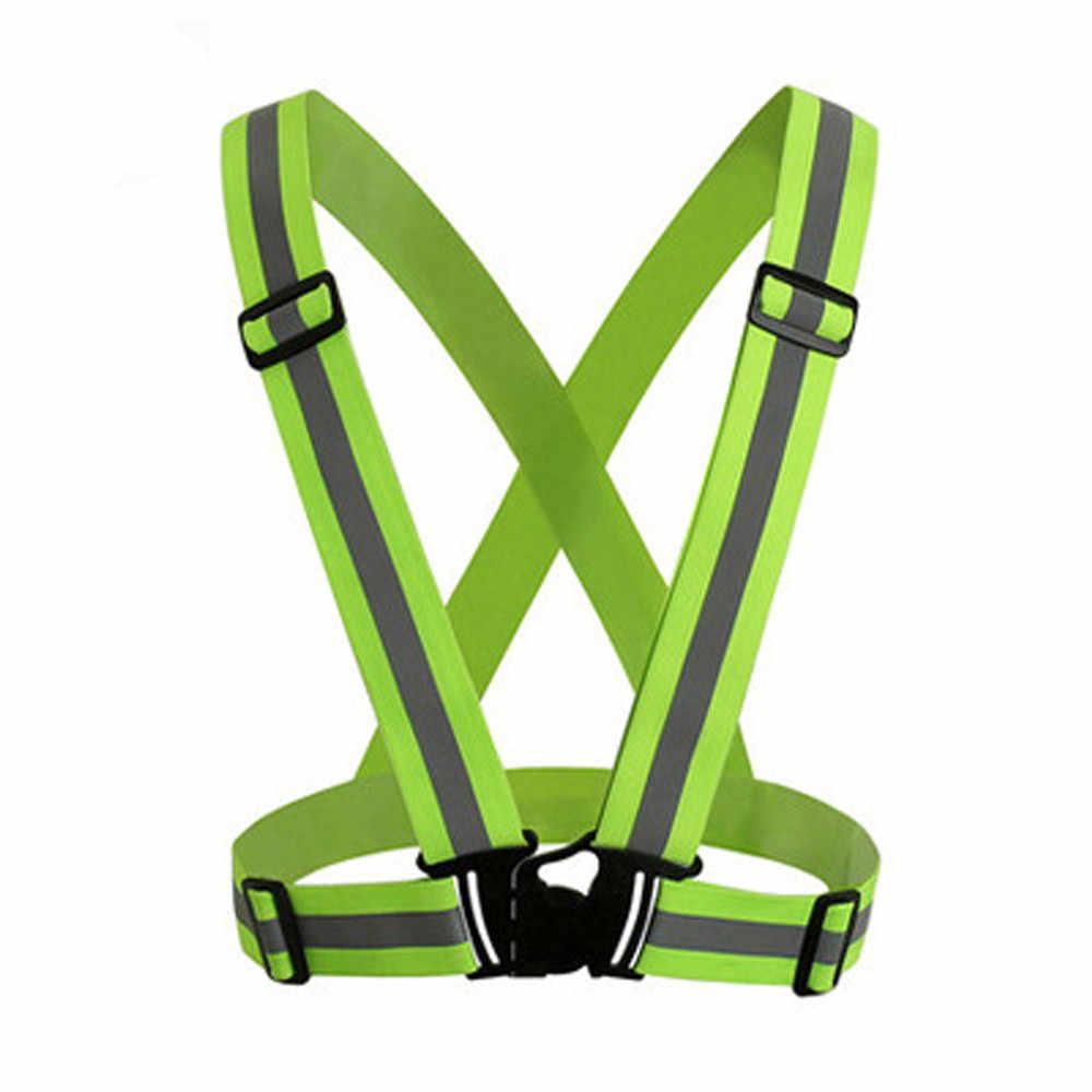 25 # видимость неоновый жилет светоотражающий пояс жилет безопасности подходит для бега Велоспорт Спорт im Freien Radweste