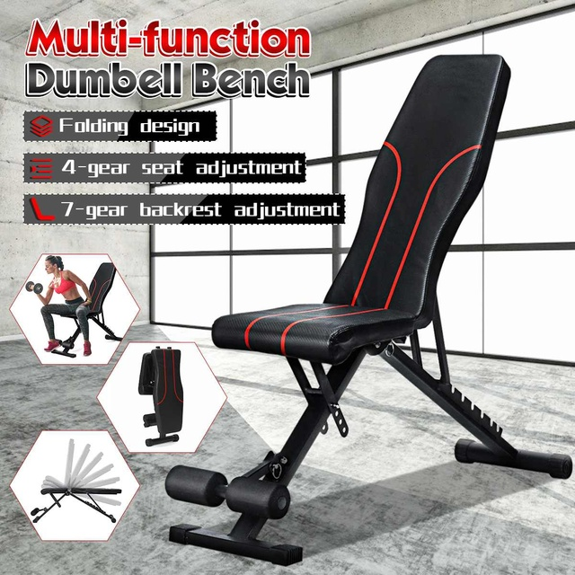GRT Fitness Adjustable-Sit-Up-Bench-Foldable-Dumbbell-Bench-Home-Gym-Fitness-Workout-AB-Abdominal-Bench-Weightlifting-Exercise Adjustable Sit Up Bench Foldable Dumbbell Bench Home Gym Fitness Workout AB Abdominal Bench Weightlifting Exercise Training