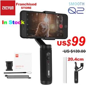Image 1 - Zhiyun חלק Q2 נייד כיס גודל 3 ציר Smartphone כף יד Gimbal עבור iPhone 11 פרו מקס XS X סמסונג s10 S9 & טלפון נייד