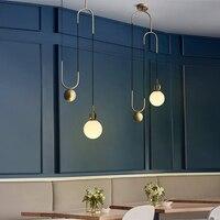 Nordic LED Glazen Bal Hanglampen Woonkamer Restaurant Home Villa Hanglamp Designer Verstelbare Hanglamp Verlichtingsarmaturen
