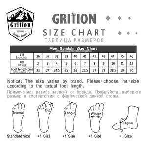 Image 5 - GRITION Men Outdoor Sandals Summer Breathable Flat Sole Beach Shoes Comfort Soft Walking Hiking Non Slip Nubuck Leather 2020 New