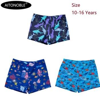 2021 Aitonoble nowe stroje kąpielowe dla nastolatków 10-16 lat chłopcy kąpielówki kostiumy kąpielowe kombinezon do nurkowania wear tanie i dobre opinie CN (pochodzenie) Dobrze pasuje do rozmiaru wybierz swój normalny rozmiar ADXA3038 POLIESTER W stylu rysunkowym