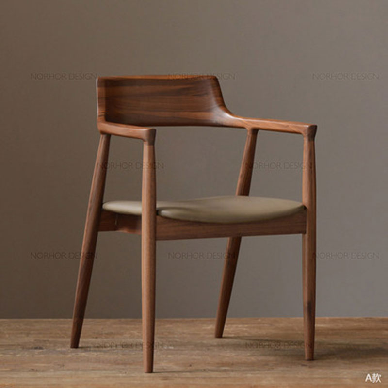 Nordic Solid Wood Bar Chair Modern Simple Office Chair Restaurant Furniture Various Styles And Colors