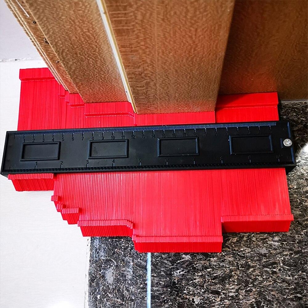 12/14/25 cm contornos irregulares calibre arco régua calibre plástico contorno perfil escala modelo de curvatura escala tiling laminado