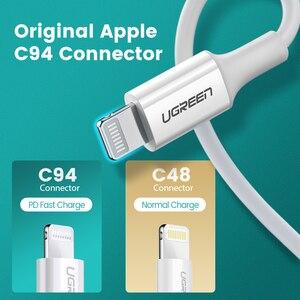 Image 4 - Ugreen MFi USB Loại C Sang Lightning Cho iPhone 12 Mini Pro Max 8 PD 18W 20W nhanh USB C Sạc Cáp Dữ Liệu Cho Macbook Pro