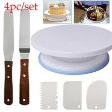 Пластиковый поворотный стол для торта, вращающийся пластиковый нож для украшения теста, 10 дюймов кремовая подставка для пирожных, поворотный стол для торта, горячая распродажа